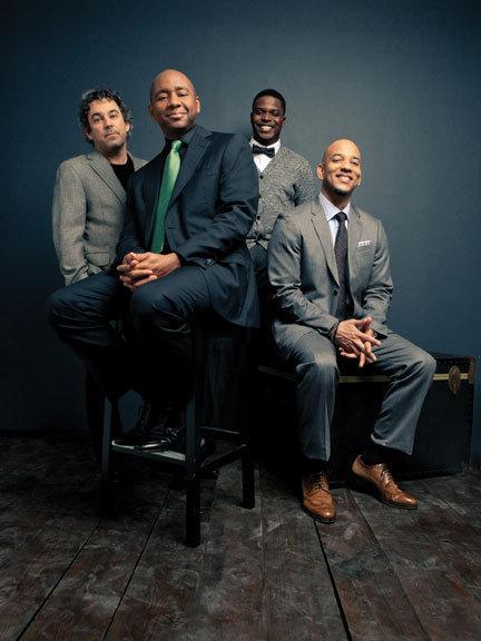 Branford Marsalis Quartet: l. to r.: Joey Calderazzo, Marsalis, Justin Faulkner, Eric Revis