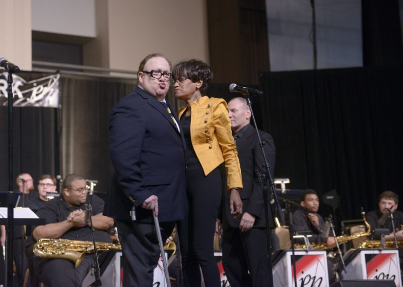 Duffy Jackson, Audrey Shakir and the Georgia State Univ. Jazz Band at the 2013 JEN Conference in Atlanta