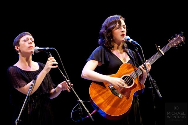 Gretchen Parlato and Becca Stevens, Jazz for Obama concert, NYC, 10-12
