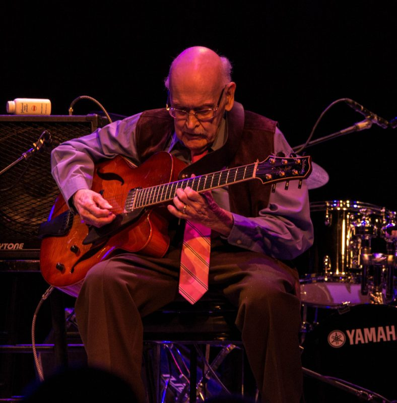 Jim Hall, Jazz For Obama concert, NYC, 9-12