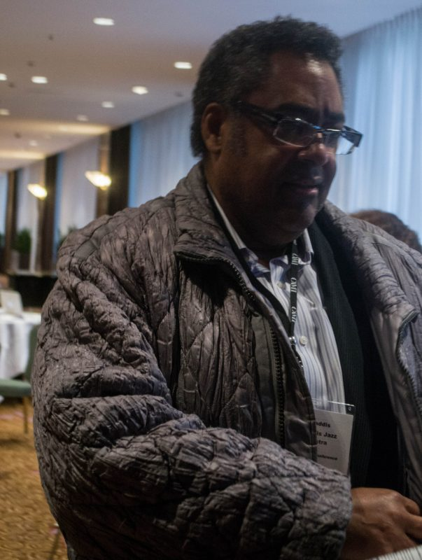 Trumpeter Jon Faddis was one of many jazz luminaries attending the Jazz Connect Conference at the Hilton New York, Jan. 2013