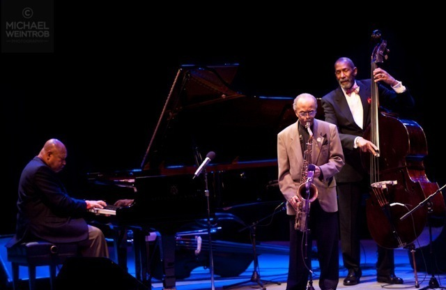 Kenny Barron, Jimmy Heath and Ron Carter, Jazz for Obama concert, NYC, 10-12