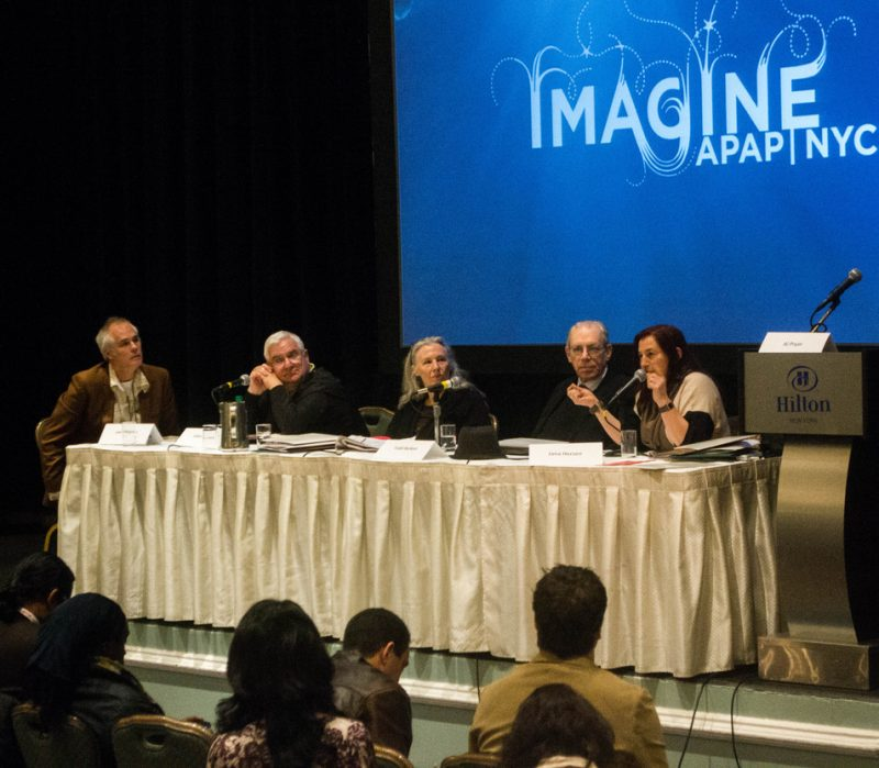 Cutting Through the Clutter: An Interactive Session at the 2013 Jazz Connect Conference, Hilton NY, 1-13 (l. to r.): Lee Mergner, John Ernesto, Mary Ann Topper, Todd Barkan, Jana Herzen