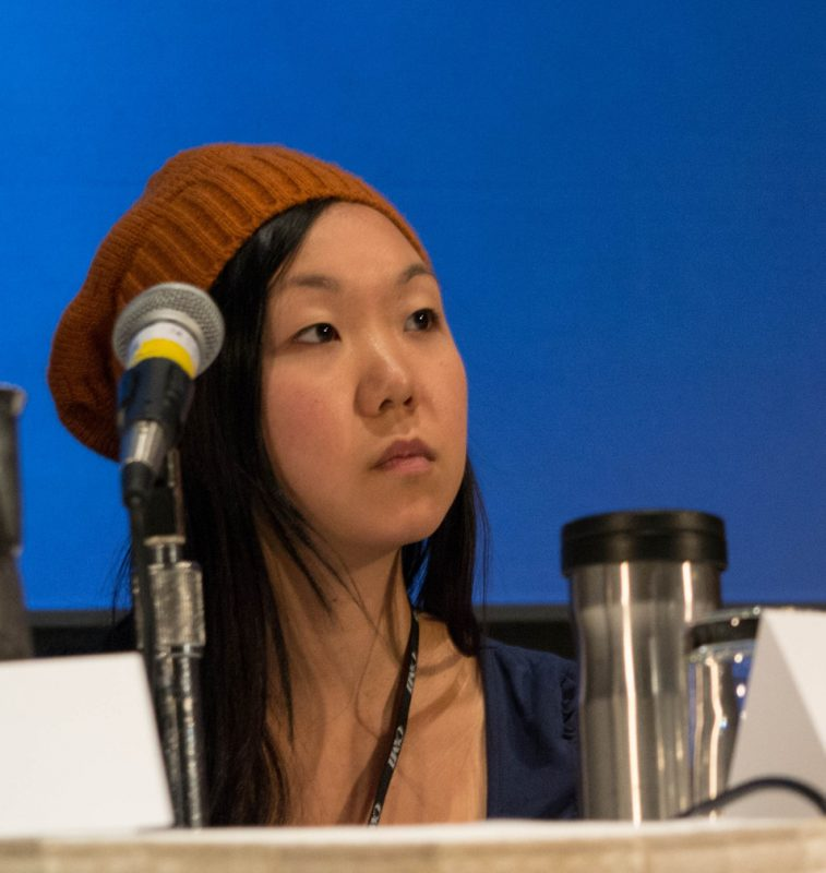"Bassist/composer Linda Oh participated in the panel ""Jazz as a Global Music Phenomenon"" at the Jazz Connect Conference, Jan. 2013, NYC"