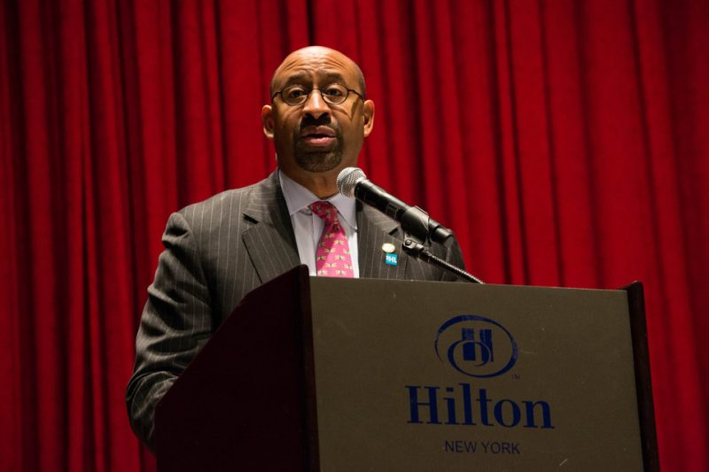Mayor Michael A. Nutter of Philadelphia gave the keynote speech at the Jazz Connect Conference, Jan. 2013, NYC