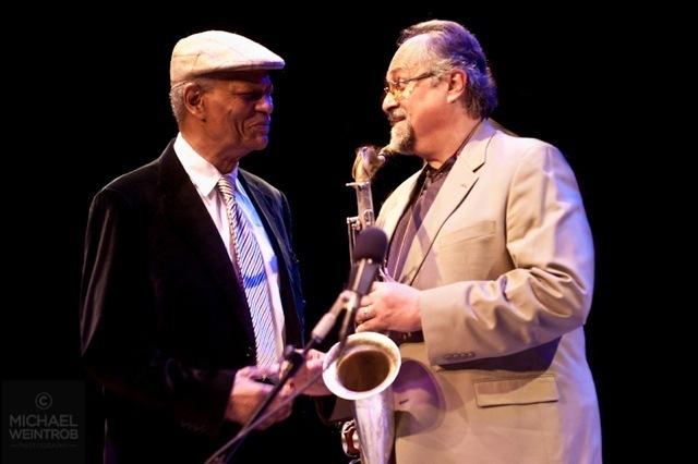 McCoy Tyner and Joe Lovano, Jazz for Obama concert, NYC, 10-12