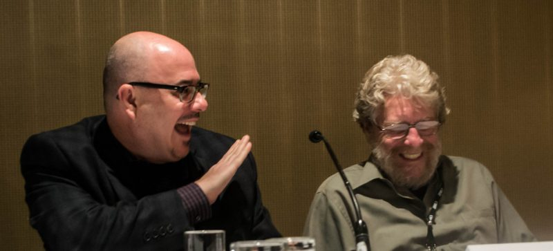 """Nick Phillips of Concord Records and Mosaic Records' Michael Cuscuna were on the """"Produce Yourself"""" panel at the Jazz Connect Conference, NYC, 1-13"""