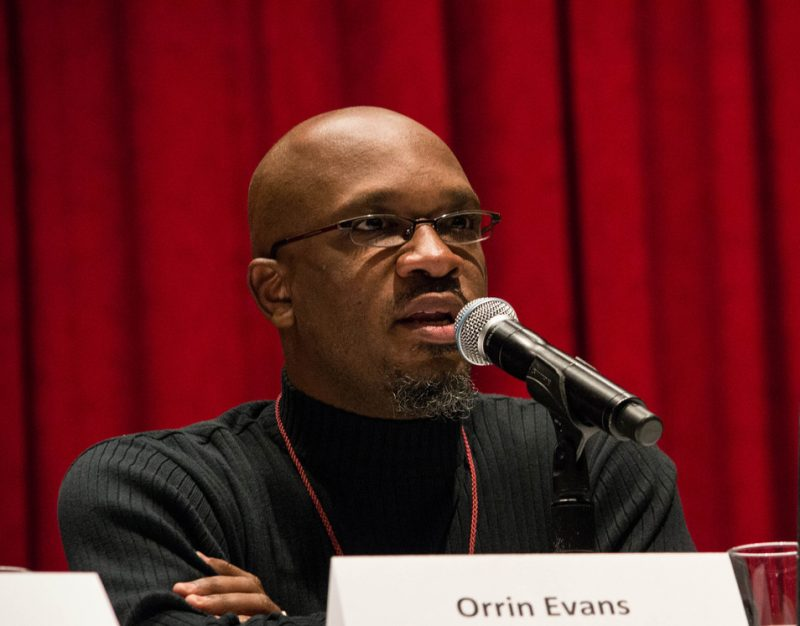 "Pianist Orrin Evans took part in the ""Race in Jazz"" panel at the Jazz Connect Conference, NYC Jan. 2013"