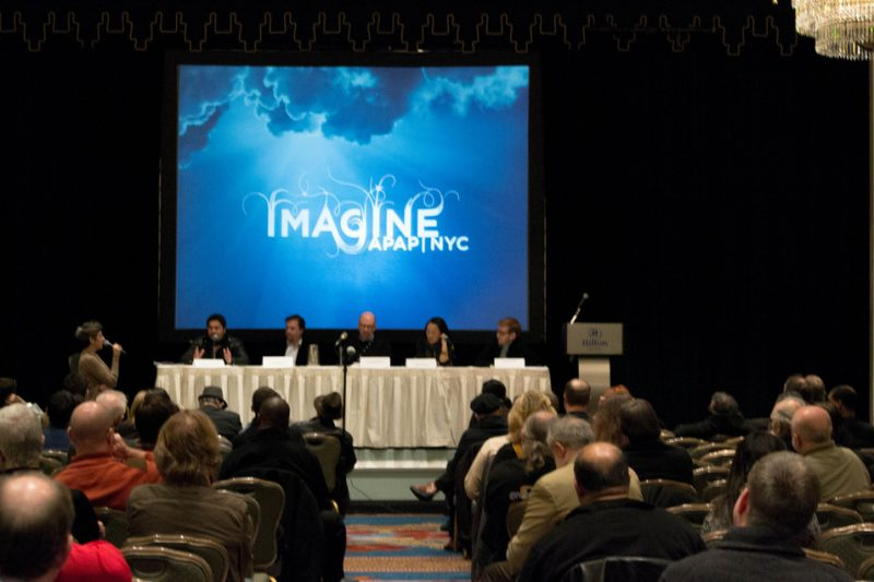 """Presenting Jazz Creatively"" panel at the Jazz Connect Conference, Hilton New York, Jan. 2013"