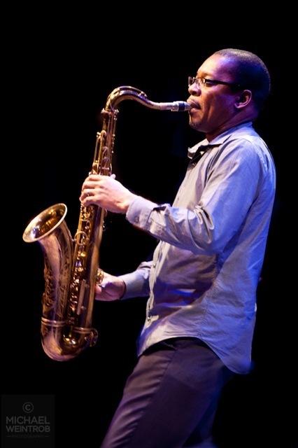 Ravi Coltrane, Jazz for Obama concert, NYC, 10-12