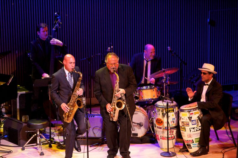 Matt Penman, Joshua Redman, Joe Lovano, Jeff Ballard and John Santos, SFJAZZ Center, San Francisco, 1-13
