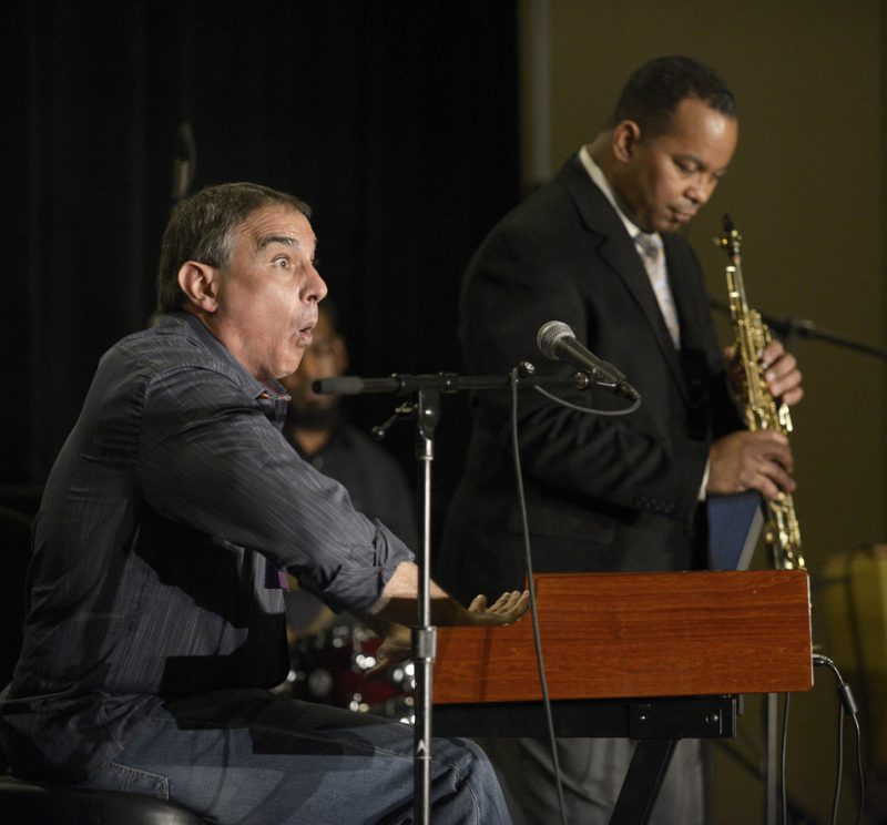 Tony Monaco with Victor Goines at the JEN Conference 2013