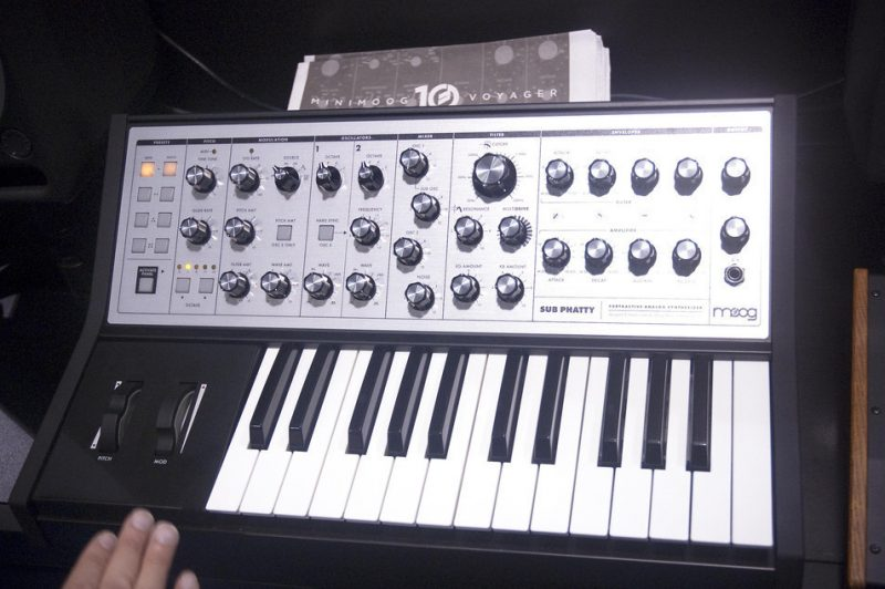 The affordable new Sub Phatty synth by Moog, Winter NAMM 2013