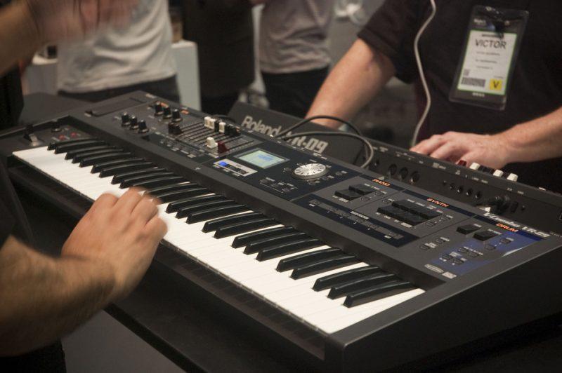 Roland's versatile, lightweight V-Combo VR-09 Mobile Keyboard, new for Winter NAMM 2013