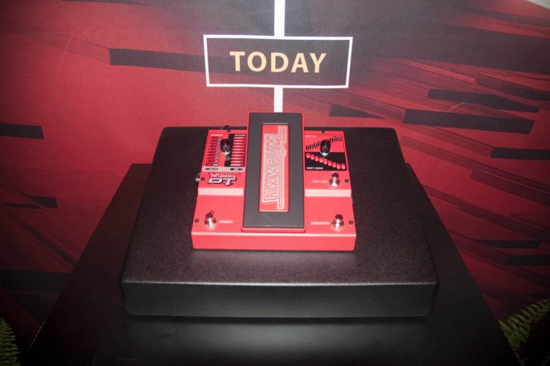 DigiTech's latest version of the Whammy pedal, now with chordal pitch-shifting capabilities, Winter NAMM 2013