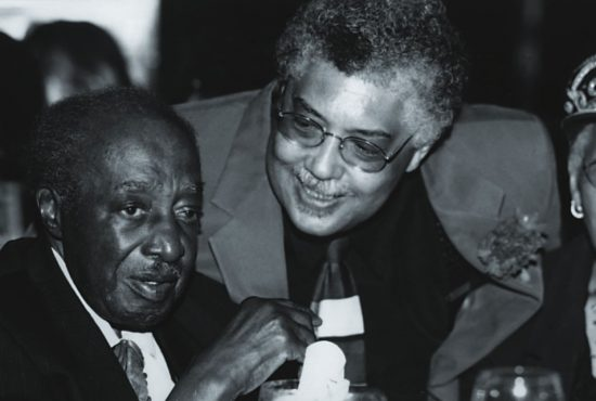 Rufus Reid with Milt Hinton at the 12th Annual Veritas Friends of Charlie Parker event, New York City 2000 image 0