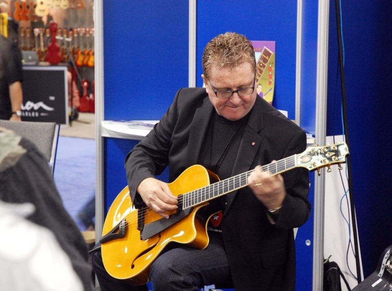 Martin Taylor performs at the ArtistWorks Inc. booth, NAMM 2011