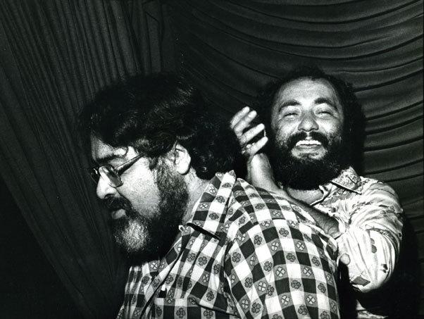 Eddie Palmieri (r) and brother Charlie Palmieri, early 1980s (Photo courtesy of Eddie Palmieri)