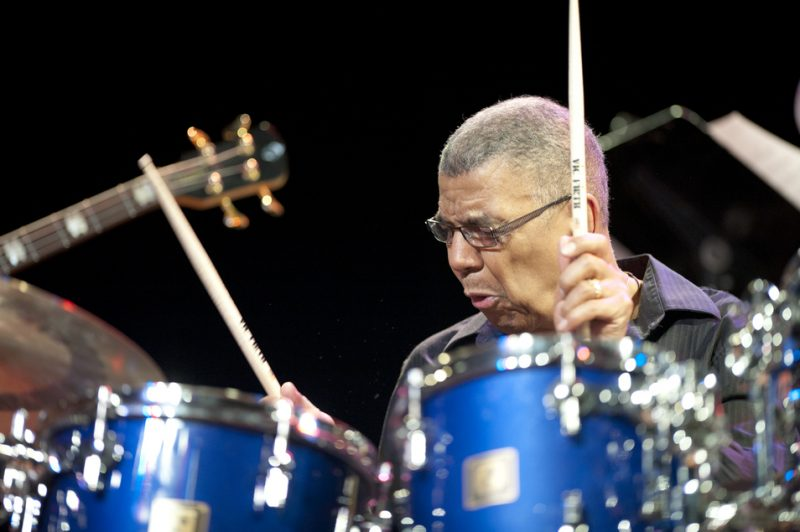 Jack DeJohnette in performance at Humber College in Toronto in March 2013