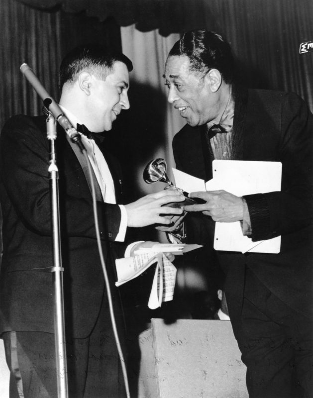 Dom Cerulli with Duke Ellington