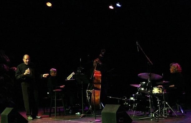 Giacomo Gates, Mac Chrupcala, John Lamb and Patricia Dean at Gates' headlining appearance at the 33rd annual Sarasota Jazz Festival, 3-13