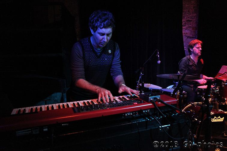 Erik Deutsch (keys) and Tony Mason (drums) at Bowery Electric, NYC Winter Jazzfest 2013