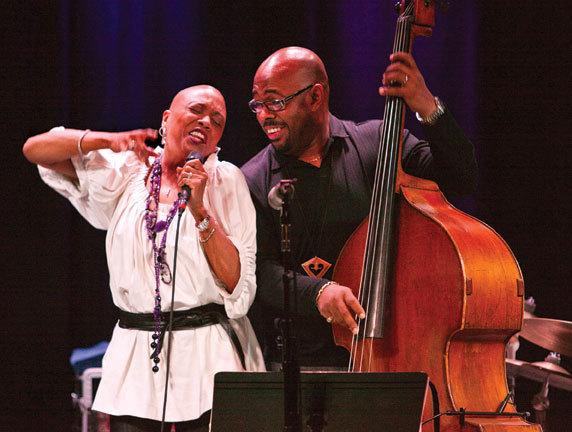 Dee Dee Bridgewater and Christian McBride, Monterey Jazz Festival Tour, Santa Cruz, Calif., 1-13