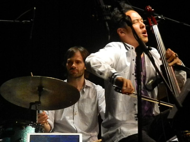 Dan Weiss and Dana Leong in performance with Miguel Zenon at the Inter American University of Puerto Rico