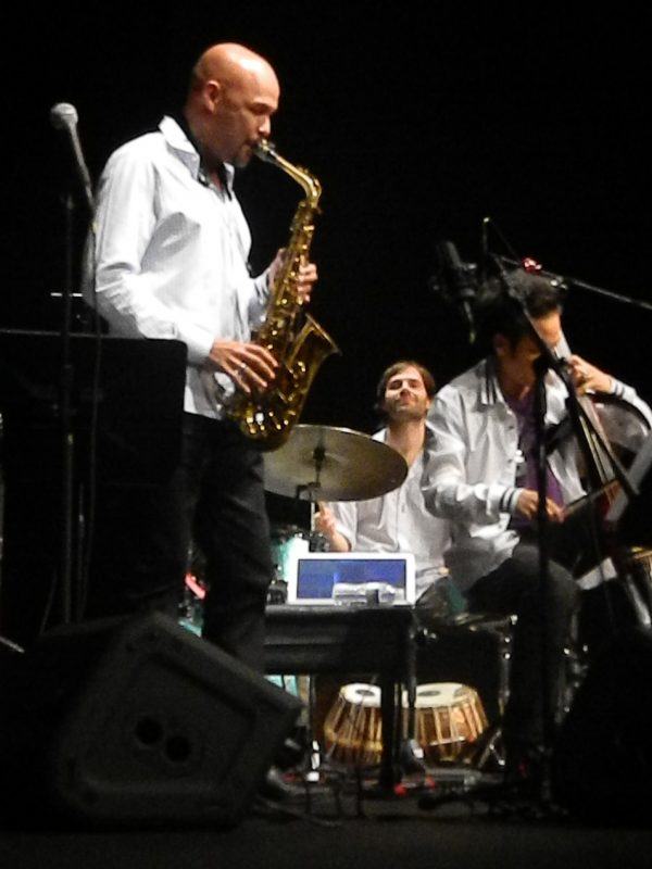 Miguel Zenon, Dan Weiss and Dana Leong in performance at the Inter American University of Puerto Rico