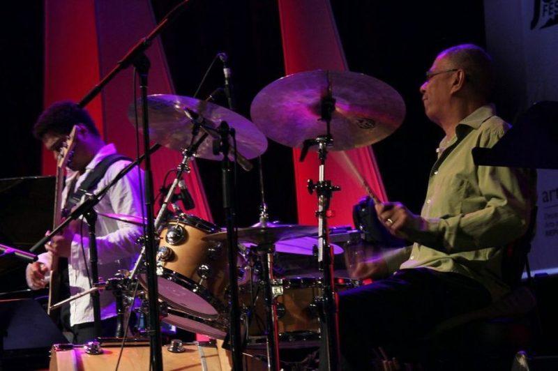 Matthew Garrison (left) and Jack DeJohnette, 2013 Cape Town International Jazz Festival
