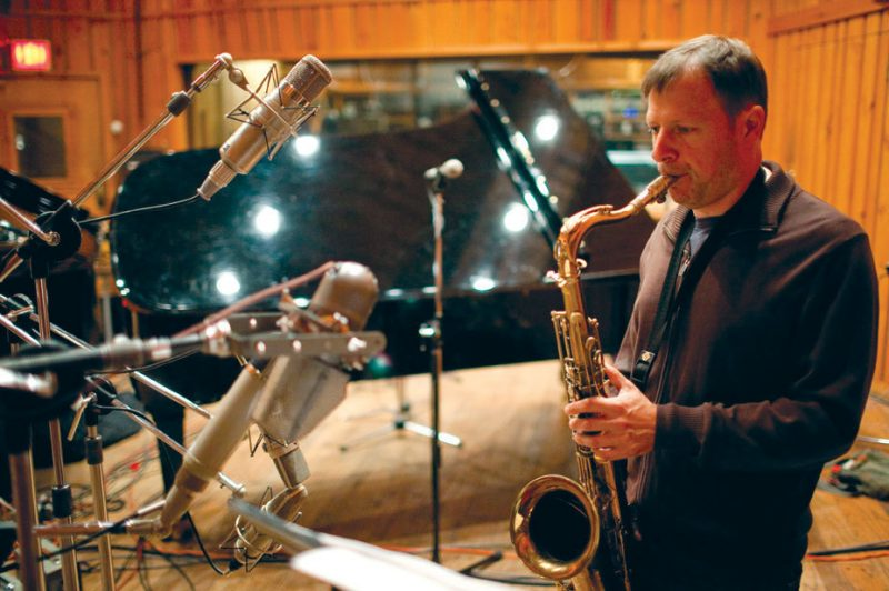 Chris Potter recording his  ECM debut as a leader at NYC's Avatar Studios, Sept. 2011