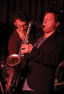 Chris Potter (r.) and bassist Larry Grenadier at the Village Vanguard, Feb. 2012