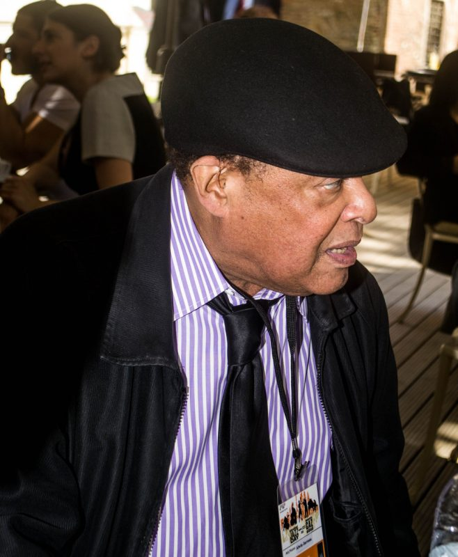 Al Jarreau at cafe outside of Hagia Irene prior to press conference for International Jazz Day, Istanbul, April 2013