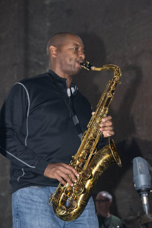 Branford Marsalis rehearsing for International Jazz Day performance, Hagia Irene, Istanbul, April 2013