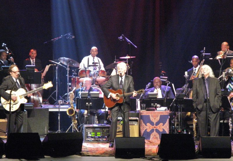 Stephen Stills, Graham Nash and David Crosby (from left) with the Jazz at Lincoln Center Orchestra; JALC's Rose Theater, May 3, 2013