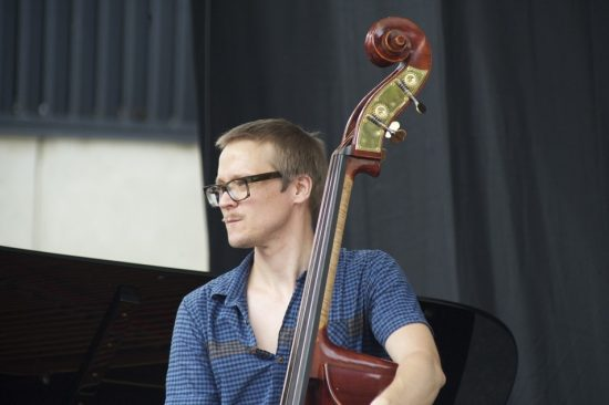 Eivind Opsvik with the David Binney Quartet at the 2012 DJF  image 0