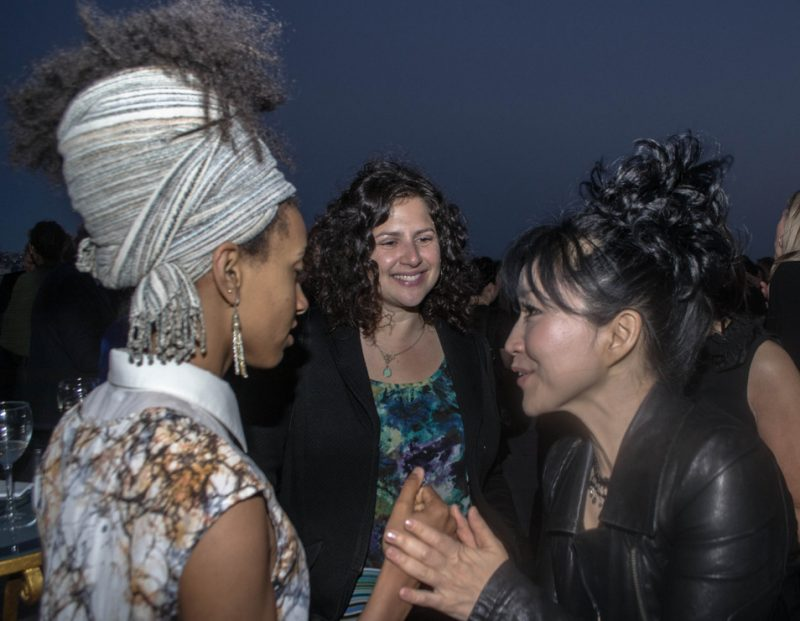 Esperanza Spalding, Anat Cohen and Keiko Matsui chat at a dinner reception prior to International Jazz Day, Istanbul, April 2013
