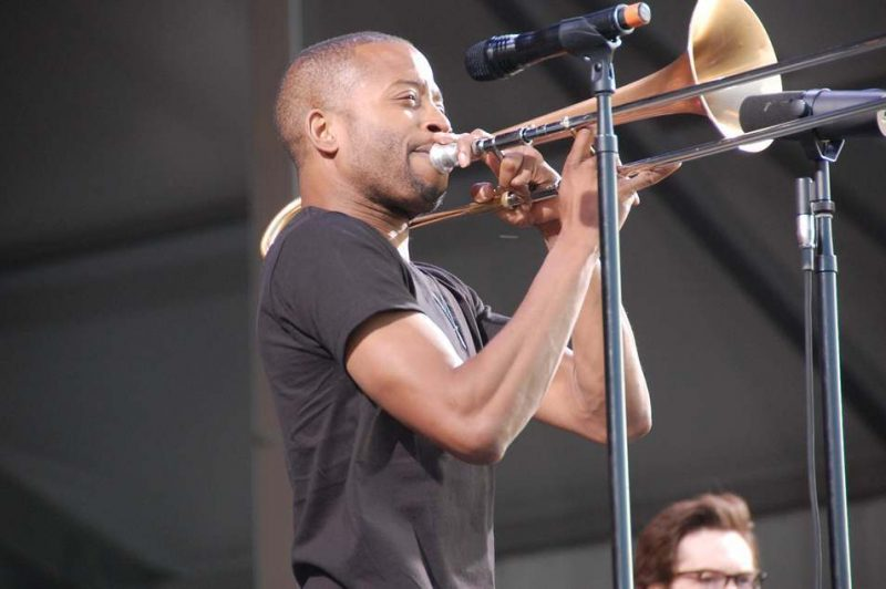 Trombone Shorty at New Orleans Jazz Fest 2013