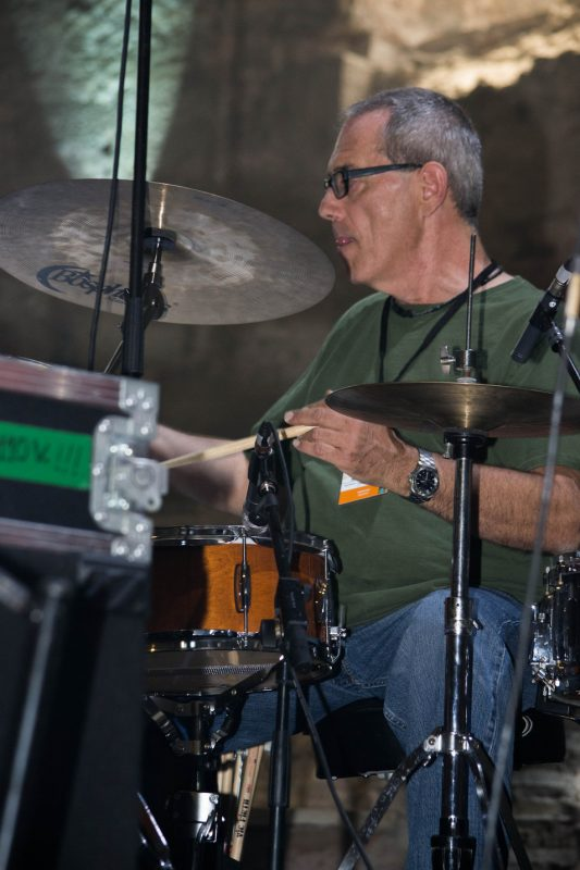 Vinnie Colaiuta rehearses for International Jazz Day concert, Istanbul, April 2013