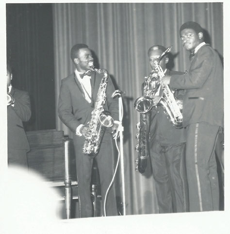 "Maceo Parker, St. Clair Pinckney and Alfred ""Pee Wee"" Ellis (from left) in 1967"