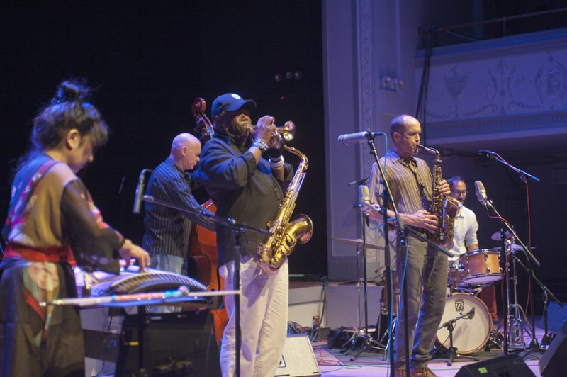 Rob Brown U_L Project at Vision Festival 2013 in Brooklyn: Miya Masaoka, Mark Helias, Joe McPhee, Brown and Qasim Naqvi (from left)