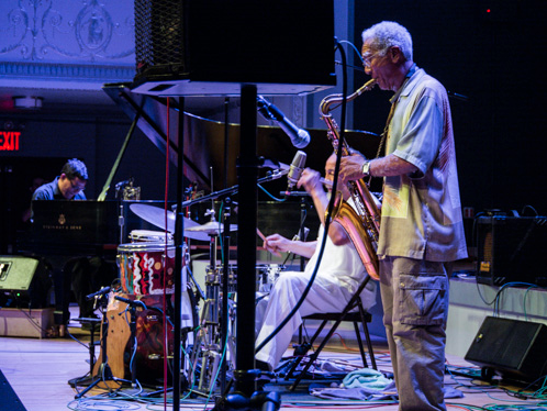 Milford Graves' Transition TRIO at Vision Festival 18 (D.D. Jackson, Graves and Kidd Jordan, from left); Brooklyn's Roulette, June 2013