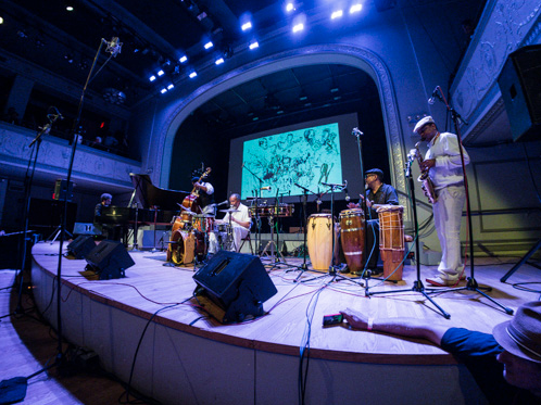 Milford Graves' Afro/Cuban Roots at Vision Festival 18, Brooklyn's Roulette, June 2013. David Virelles, 