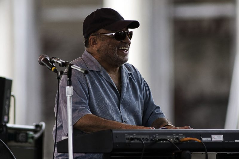 Eddie Palmieri performing with his group at the 2011 Newport Jazz Festival