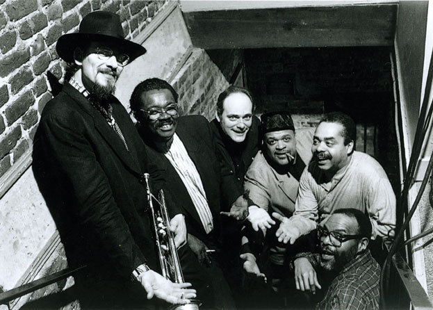 The Fort Apache Band in 1996: Jerry Gonzalez, Larry Willis, Andy Gonzalez, John Stubblefield, Steve Berrios and Joe Ford (from left)