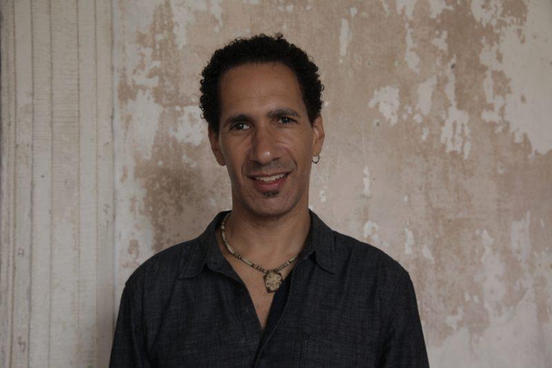 David Gilmore, backstage at Newport Jazz Festival 2013