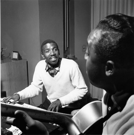Guitarist Thornel Schwartz and organ master Jimmy Smith in 1956
