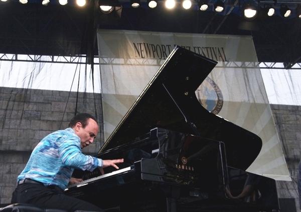 Michel Camilo at the Newport Jazz Festival, 2013