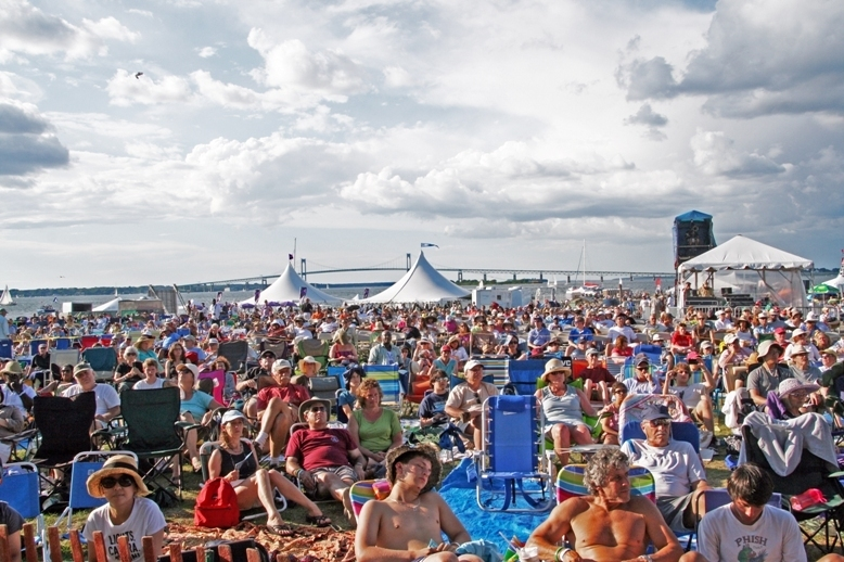 Crowd at the 2013 Newport Jazz Festival