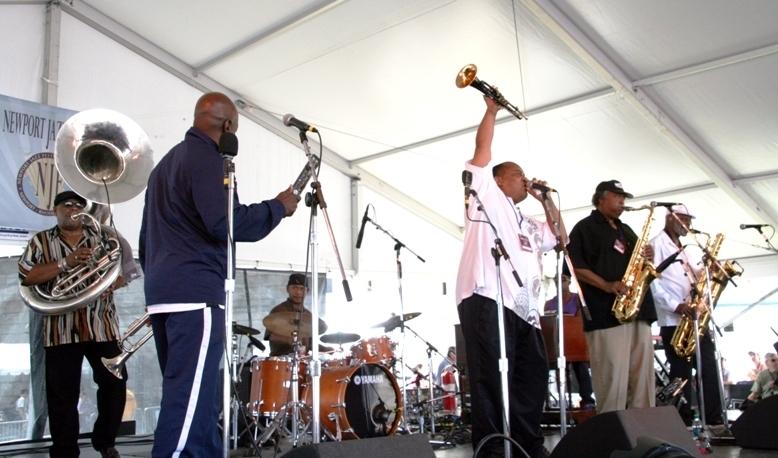 Dirty Dozen Brass Band at the Newport Jazz Festival, 2013